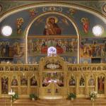wnętrze kościoła prawosławnego-ikonostas